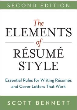 The Elements of Résumé Style, book cover