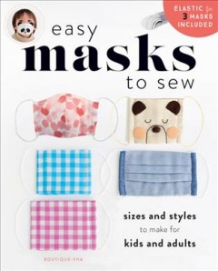 Easy Masks to Sew, book cover