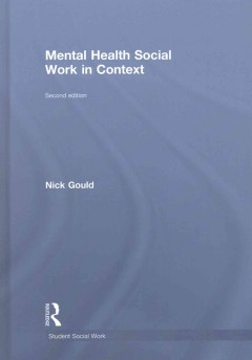 Trabajo social de salud mental en contexto, portada de libro
