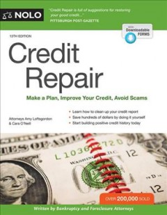 Credit Repair Make A Plan, Improve your Credit Score, Avoid Scams, book cover