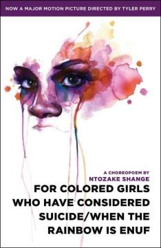 Para las niñas de color que han considerado el suicidio, When the Rainbow Is Enuf, portada del libro
