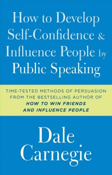 How to Develop Self-Confidence & Influence People by Public Speaking, book cover