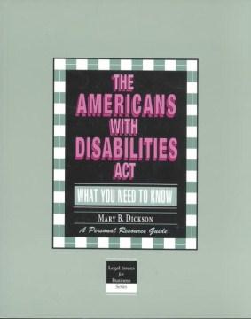 La Ley de Estadounidenses con Discapacidades La Ley de Estadounidenses con Discapacidades Contratación, adaptación y portada del libro