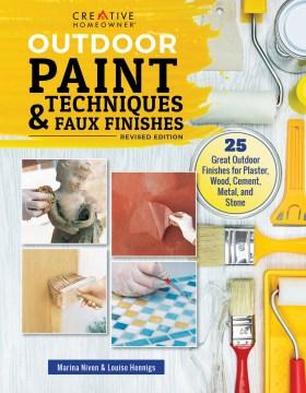 Técnicas de pintura para exteriores y acabados artificiales, portada de libro