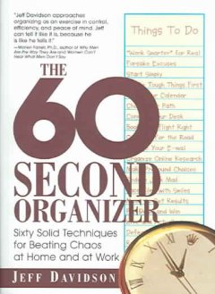 The 60 Second Organizer, book cover