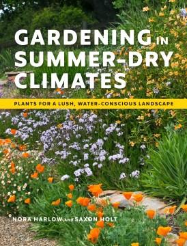 Jardinería en climas secos de verano, portada de libro
