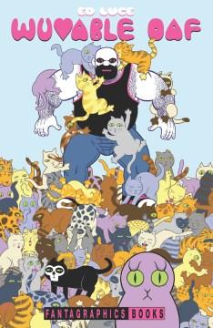 cubierta de un zoquete adorable, un hombre musculoso con barba está rodeado y cubierto de lindos gatitos