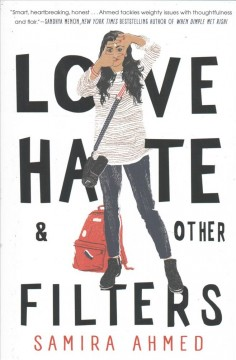Book cover, Love hate and other Filters, by Samira Ahmed