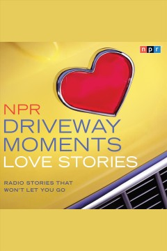 Image of a hood of a yellow care with a red heart emblem on it. Text reads NPR Driveway Moments - Love Stories