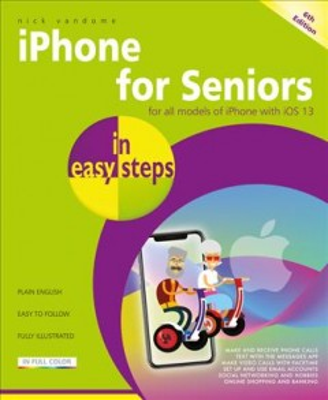 iPhone para personas mayores en sencillos pasos, portada de libro