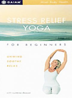 Stress Relief Yoga for Beginners, book cover