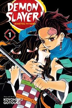 Demon Slayer: Kimetsu No Yaiba (not in DVD format yet, streaming), book cover