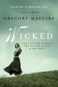 Book cover for Wicked novel by Gregory Maguire