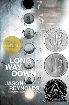 portada del libro, Long Way Down, de Jason Reynolds