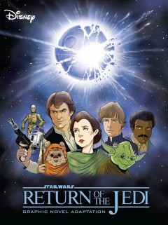 Star wars, return of the Jedi : graphic novel adaptation / manuscript adaptation, Alessandro Ferrari ; character studies, Igor Chimisso ; layout, Matteo Piana ; clean up and ink, Igor Chimisso ; paint (background and settings), Davide Turotti ; paint (characters), Kawaii Creative Studio.