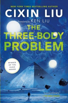 The Three-Body Problem by Cixin Liu (blue cover OR science fiction)