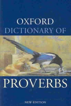 The Oxford dictionary of proverbs book cover