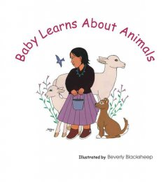 Baby learns about animals book cover