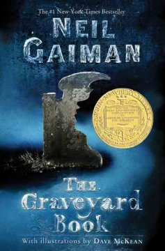 The graveyard book book cover