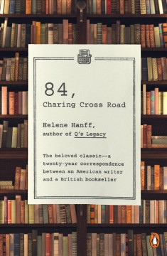 84, Charing Cross Road. book cover