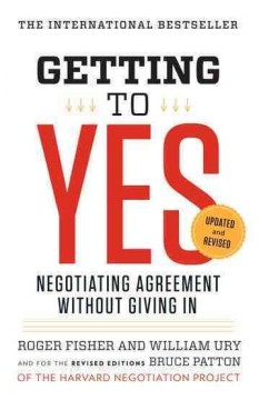 Getting to yes : negotiating agreement without giving in book cover