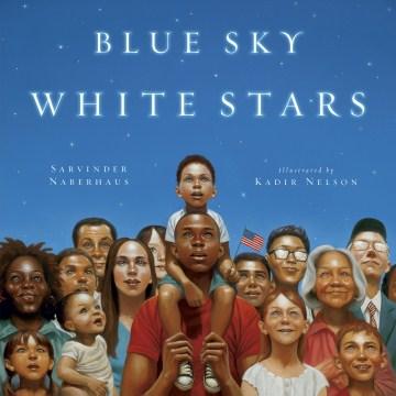 Blue sky white stars book cover