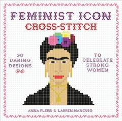 Feminist icon cross-stitch book cover