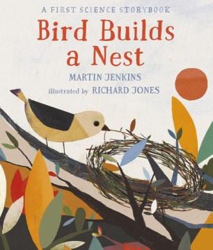 Bird builds a nest book cover
