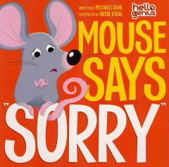 """Mouse says """"sorry"""" book cover"""