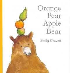 Orange pear apple bear book cover