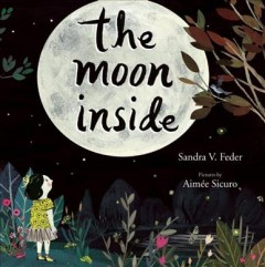 The moon inside book cover