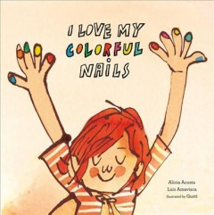 I love my colorful nails book cover