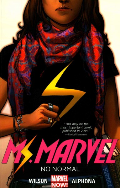 Ms. Marvel: No Normal by G. WIllow Wilson. artist, Adrian Alphona book cover