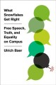 What snowflakes get right : free speech, truth, and equality on campus Book Cover