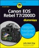 Canon EOS Rebel T7/2000D for dummies / by Julie Adair King. cover