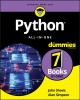 Python all-in-one for dummies / by John Shovic and Alan Simpson. cover