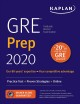 GRE prep 2020. Practice Tests + Proven Strategies + Online. cover