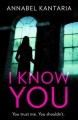 I know you : a novel of suspense / Annabel Kantaria. cover