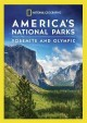 Cover for America's national parks. Yosemite and Olympic