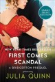 Cover for First comes scandal: a bridgertons prequel [Large Print]