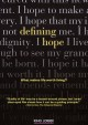 Cover for Defining hope