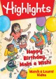 Cover for Highlights. Happy birthday, make a wish!