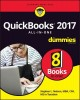 Cover for QuickBooks 2017 all-in-one for dummies