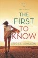 Cover for The first to know