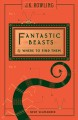 Cover for Fantastic Beasts and Where to Find Them
