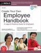 Cover for Create your own employee handbook, [2021]: a legal & practical guide for em...