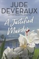 Cover for A justified murder [Large Print]