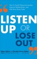 Cover for Listen Up or Lose Out: How to Avoid Miscommunication, Improve Relationships...
