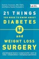 Cover for 21 things you need to know about diabetes and weight loss surgery