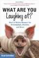 Cover for What are you laughing at?: how to write humor for screenplays, stories, and...
